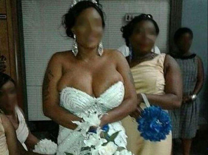 brides out boobs fall