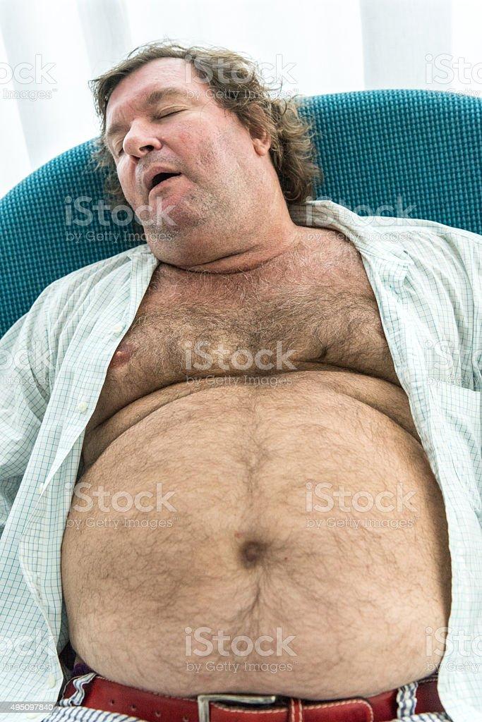 mature sleeping hairy