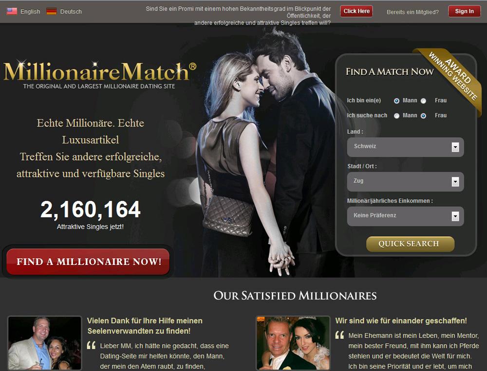website millionaire dating