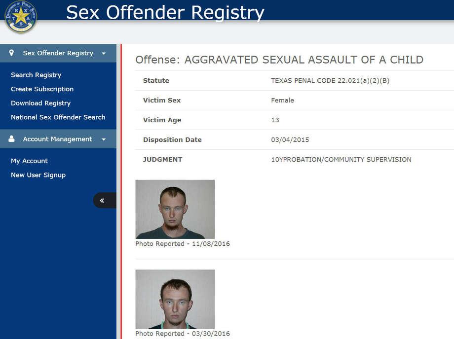 on registered information sex offenders