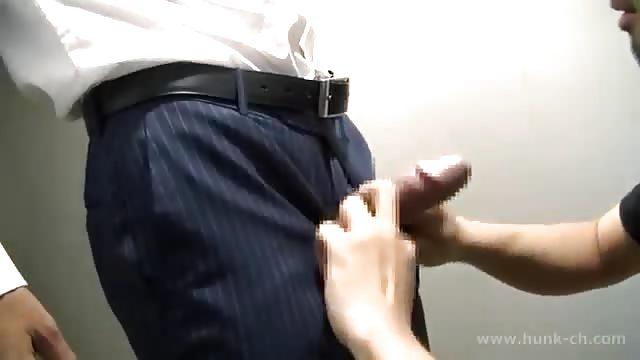 sucking on toilet