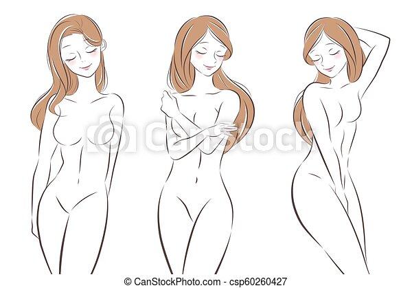 cartoon drawings naked
