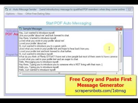 message site opening examples dating
