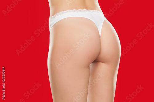 ass free panty white