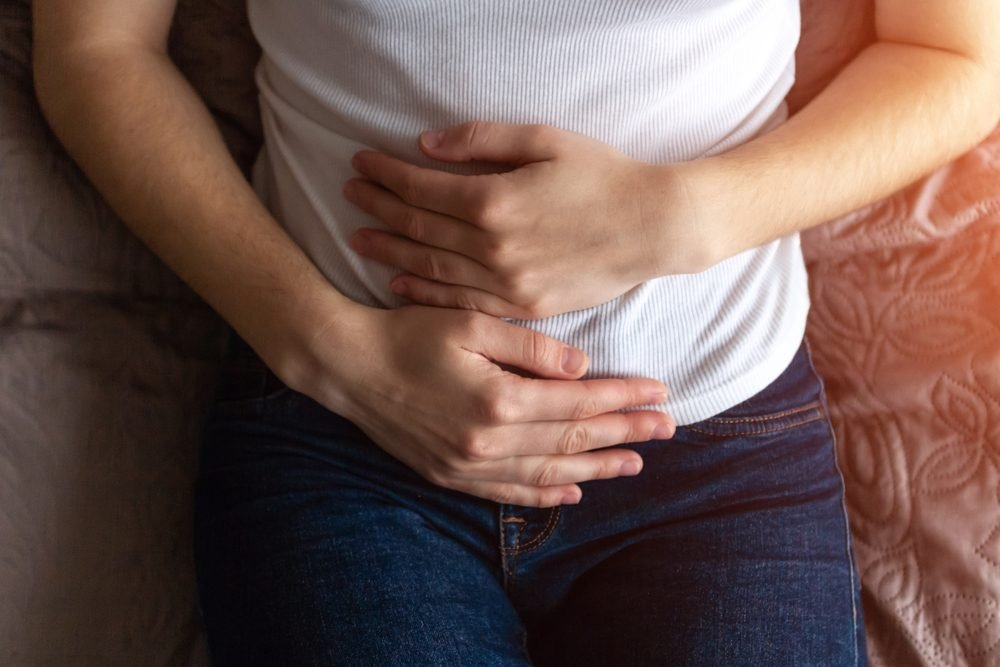 stomach when sex having hurts