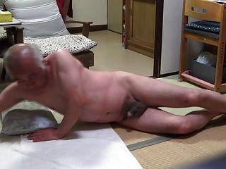 old men masturbating together