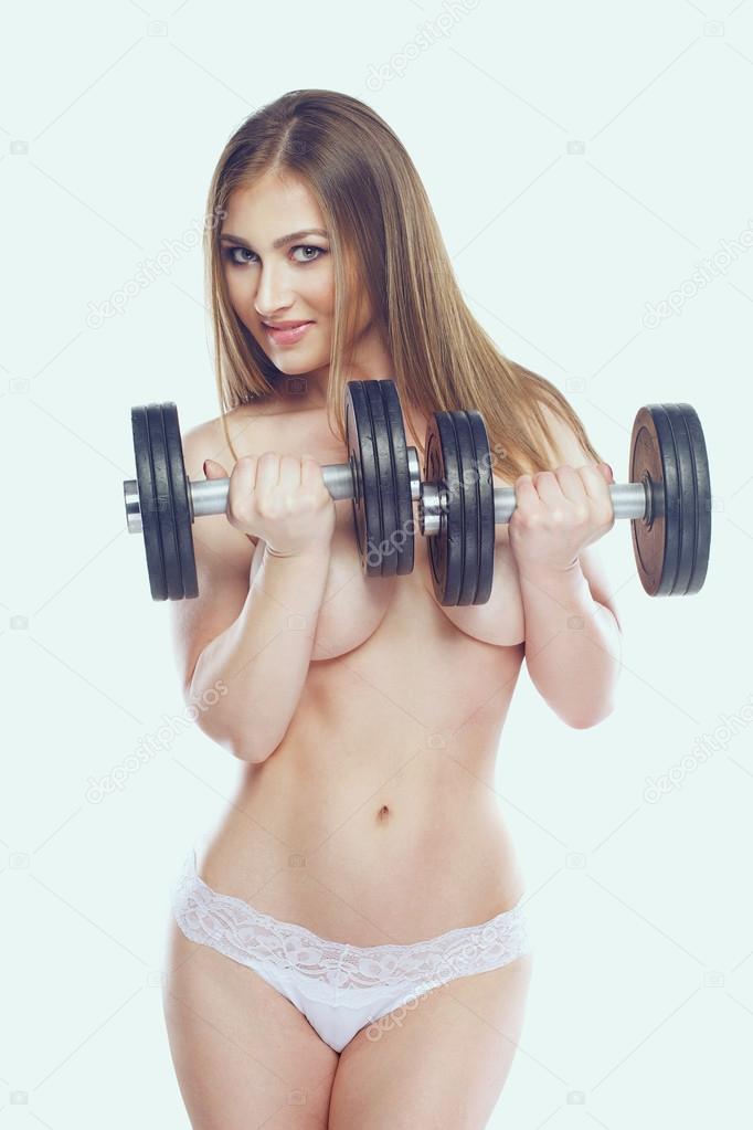 ladies naked dumbell exercises
