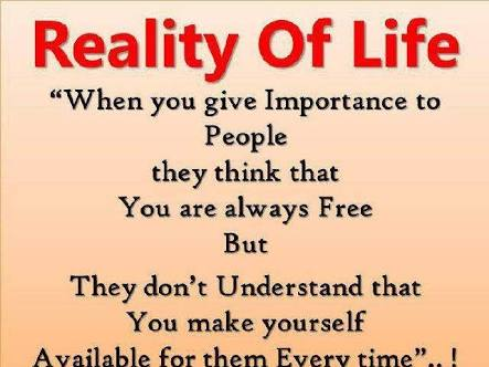 of accepting reality the life