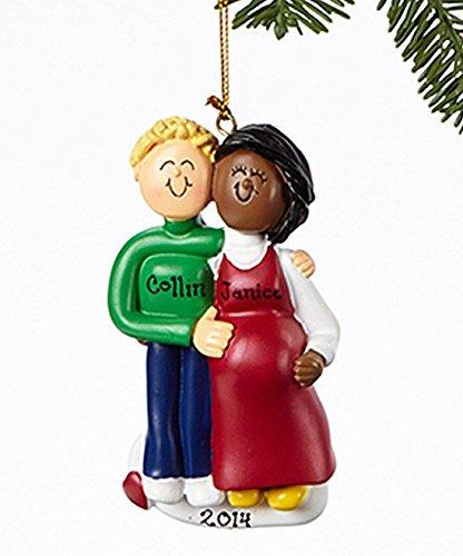 interracial christmas ornaments couple