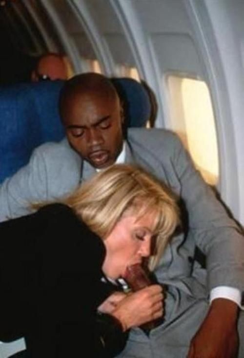 blowjob on airplane