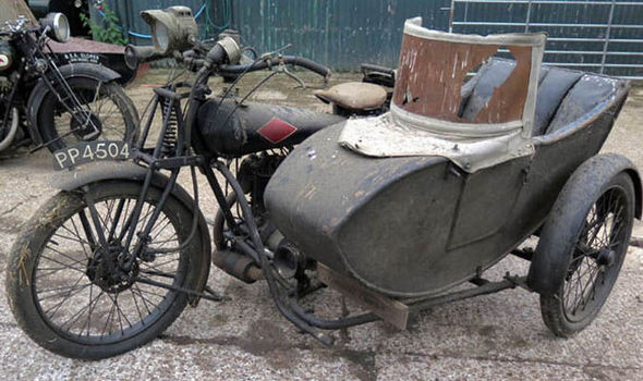sidecar vintage with motorcycle
