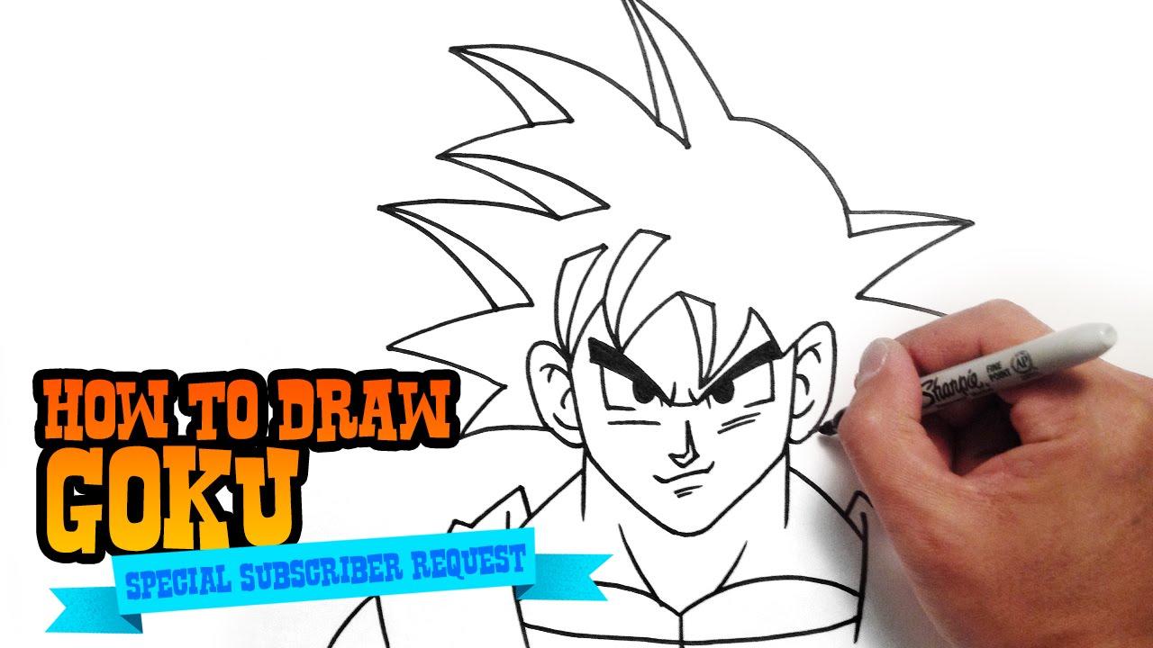 do goku how you draw
